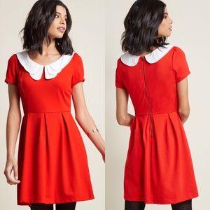 Mod Cloth Looking to Tomorrow red mini dress XL